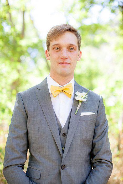 Boys Light Yellow Formal Adjustable Bow Tie for Tuxedo Weddings