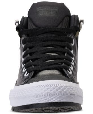 656282c9587d2e Converse Men s Chuck Taylor All Star Street Mid Leather Casual Sneakerboots  from Finish Line - Black 9