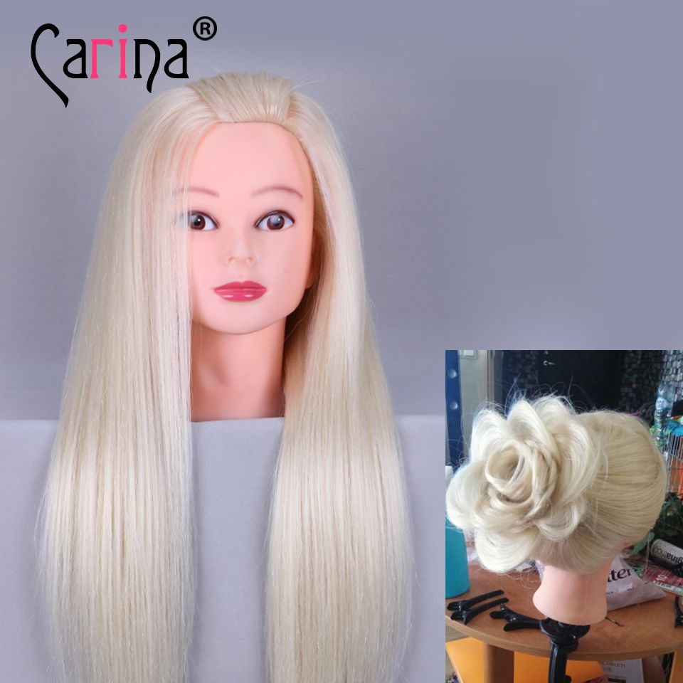 Big Sale Professional Styling Head With Blonde Hair 65cm Thick Hair Wig Heads For Hairdressers Training Hair Mannequin Mannequin Heads Professional Hairstyles