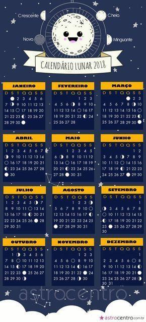 Calend rio lunar 2018 festa ana julia pinterest for En que luna estamos