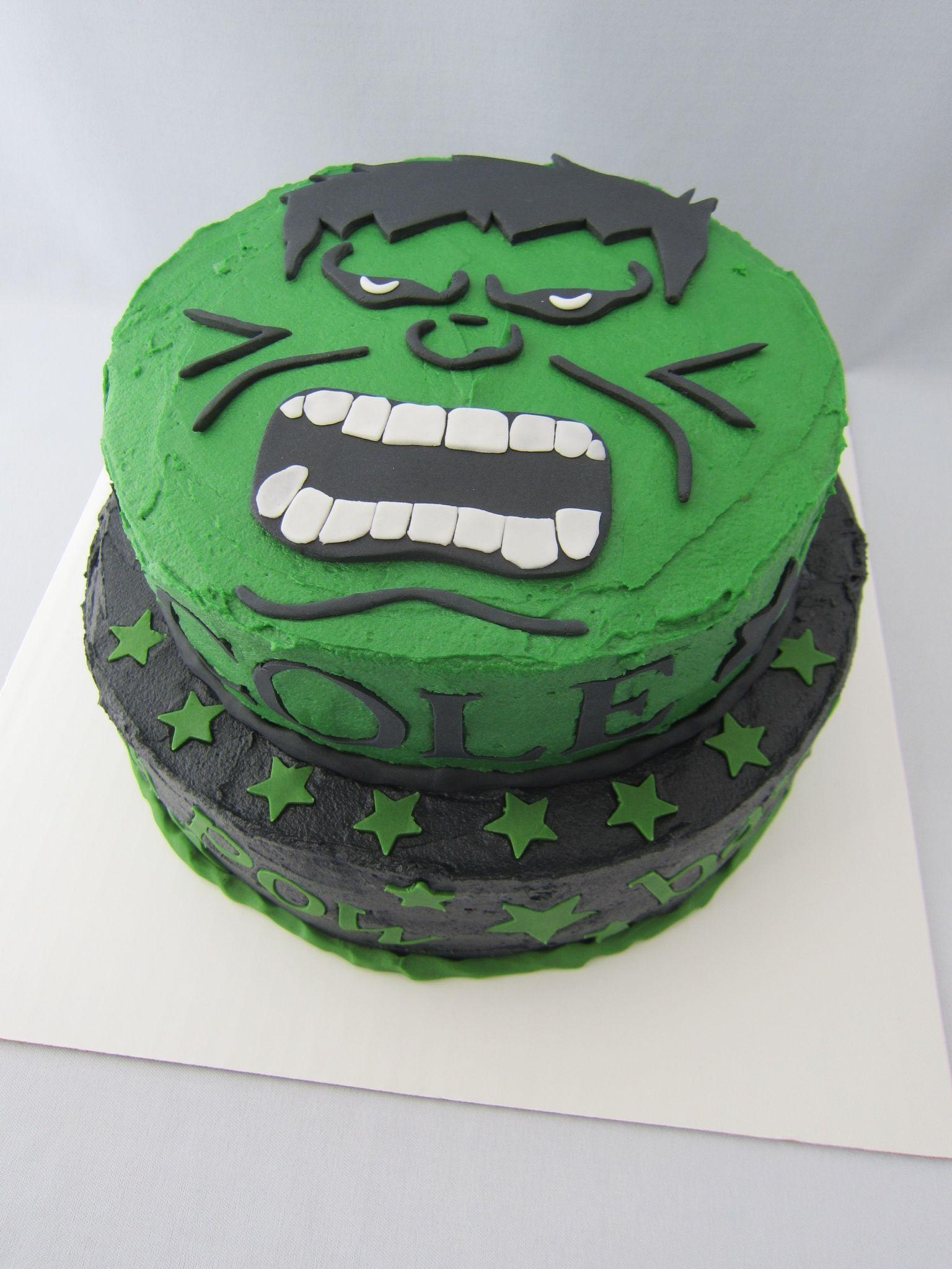 Incredible Hulk birthday cake hulk cake Pinterest