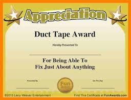 free funny awards certificates