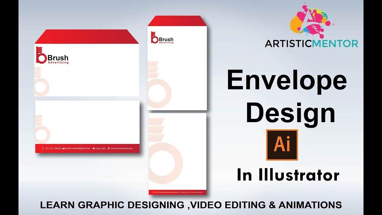 How To Design Envelope Professional Envelope Design In Adobe
