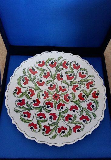 Turkish ottoman handmade iznik tile dishes,special design handmade tile painting…