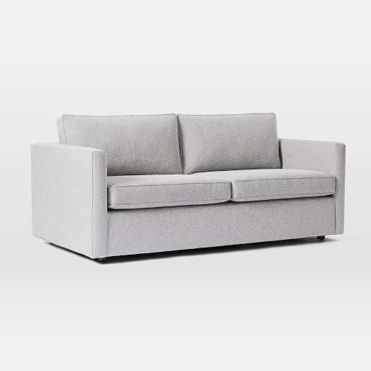 Haven 84 Sofa Poly Chenille Tweed Silver Gray In 2020 Sleeper Sofa Sofa Three Seater Sofa