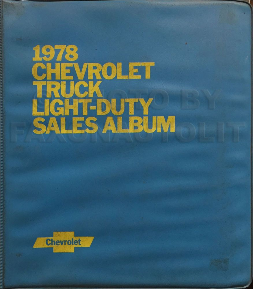 chevy truck parts manual