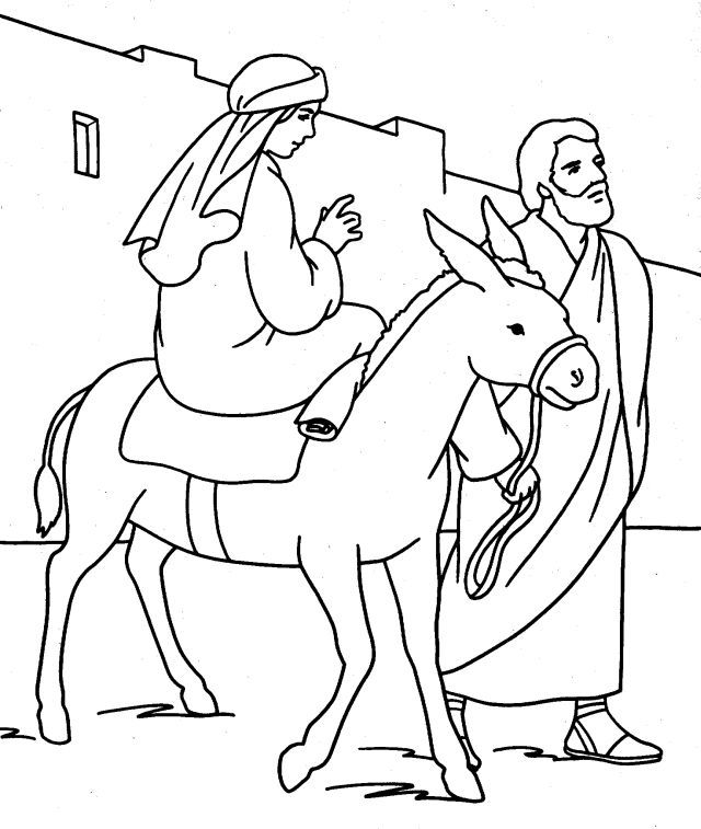 Mary And Joseph Coloring Pages Az Coloring Pages Nativity