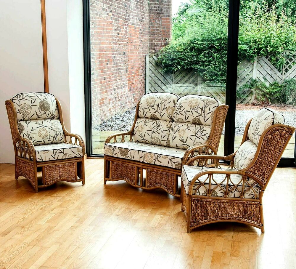 Luxury Suite Set Conservatory Bamboo Furniture Chair Sofa