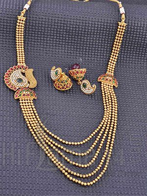 Brautschmuck gold perlen  Long Gold Beads Step Chain | Indian Bridal Jewelry | Pinterest