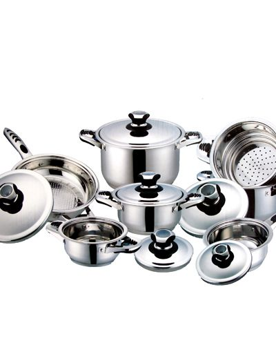 179 For A 13 Piece Stainless Steel Muller Cookware Set From The