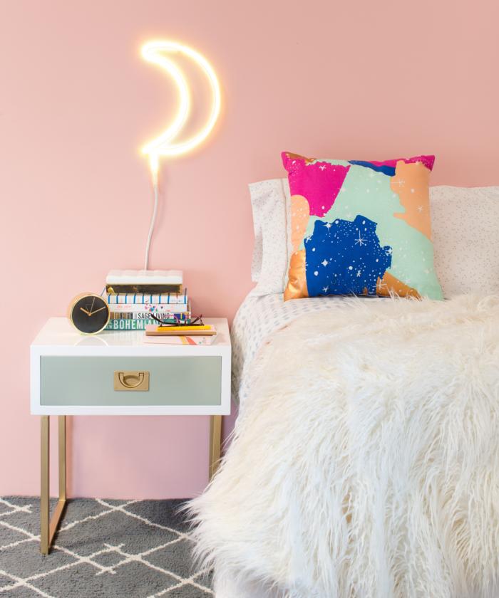 trendfarben 2017 millennial pink als wandfarbe im schlafzimmer ...