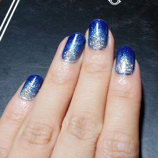 The Makeup Box: Starry, Starry Night: Navy and Silver Glitter Ombre ...