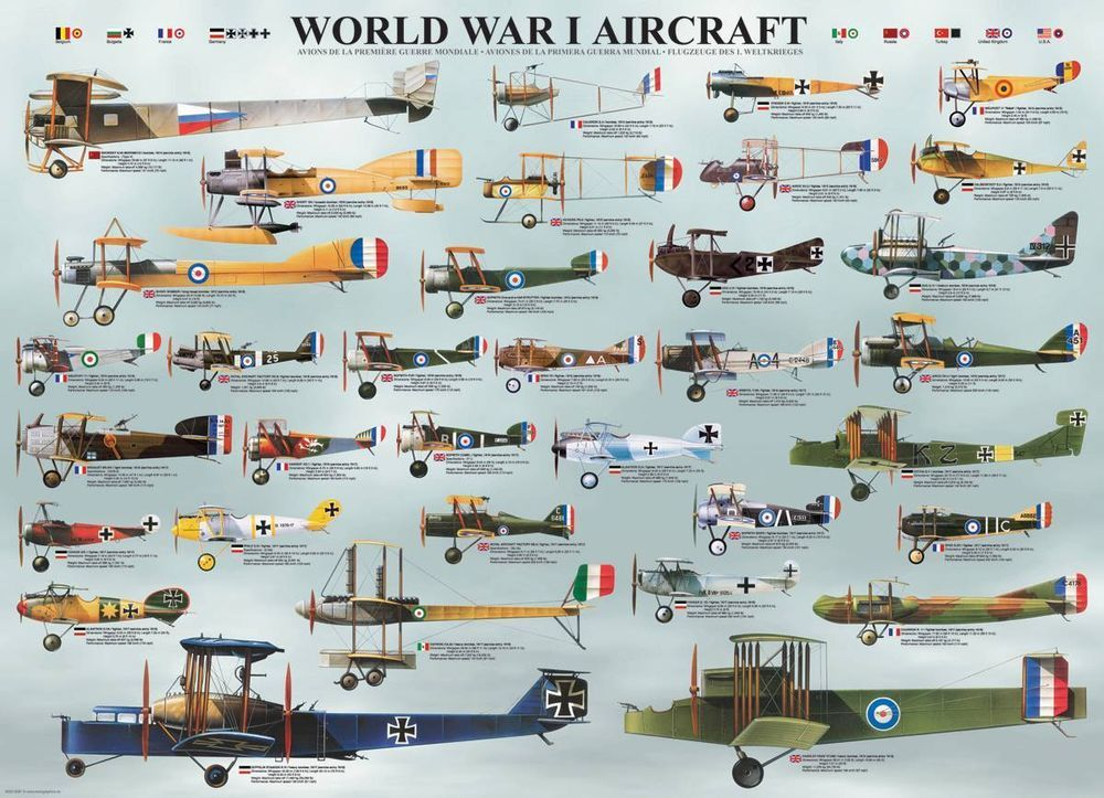 Jigsaw Puzzle Airplane Classic American Planes 1000 pieces NEW Made in USA