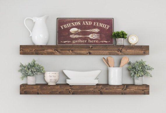 Thick Floating Shelves Wood Floating Shelf Farmhouse Shelves Amazing Thick Floating Wall Shelves