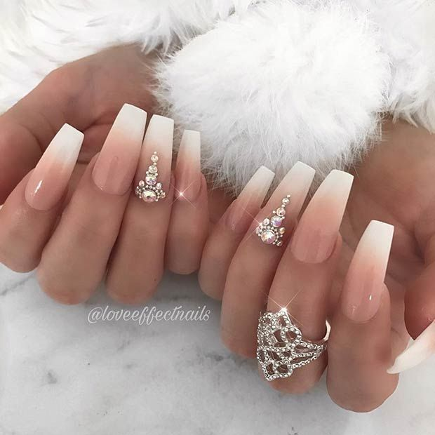 43 Nail Designs and Ideas for Coffin Acrylic Nails | StayGlam