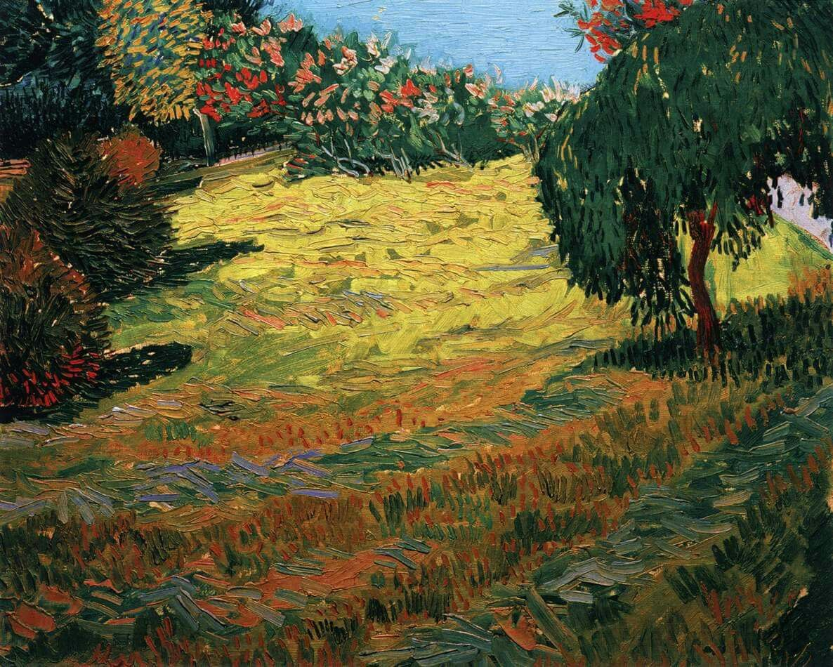 Vincent van Gogh Sunny Lawn in a Public Park 1888. oil on canvas