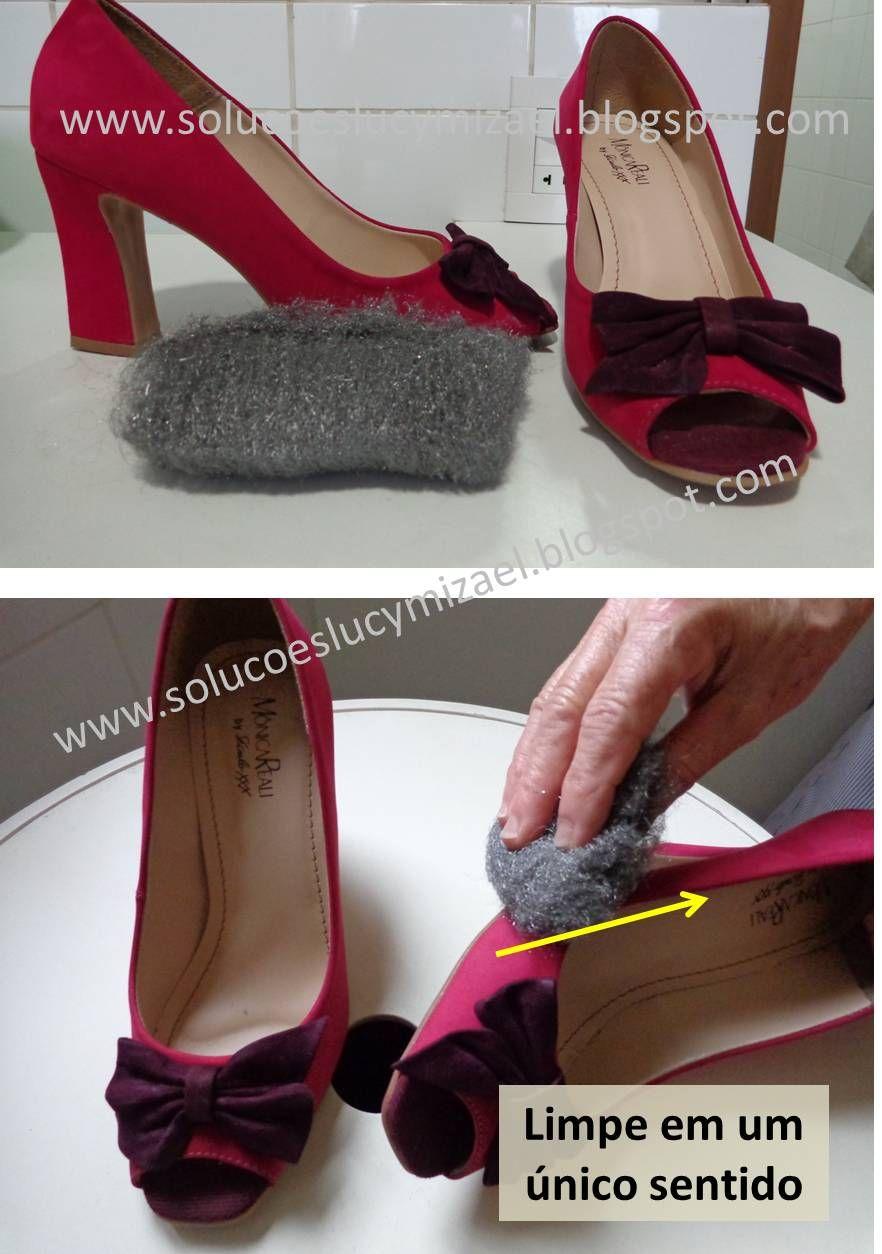 como limpar sapatilha por dentro