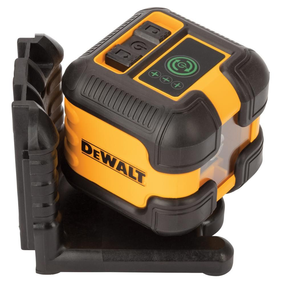 Dewalt 55 Ft Green Self Leveling Cross Line Laser Level With 2 Aa Batteries Case Dw08802cg Qu The Home Depot Laser Levels Dewalt Battery Cases