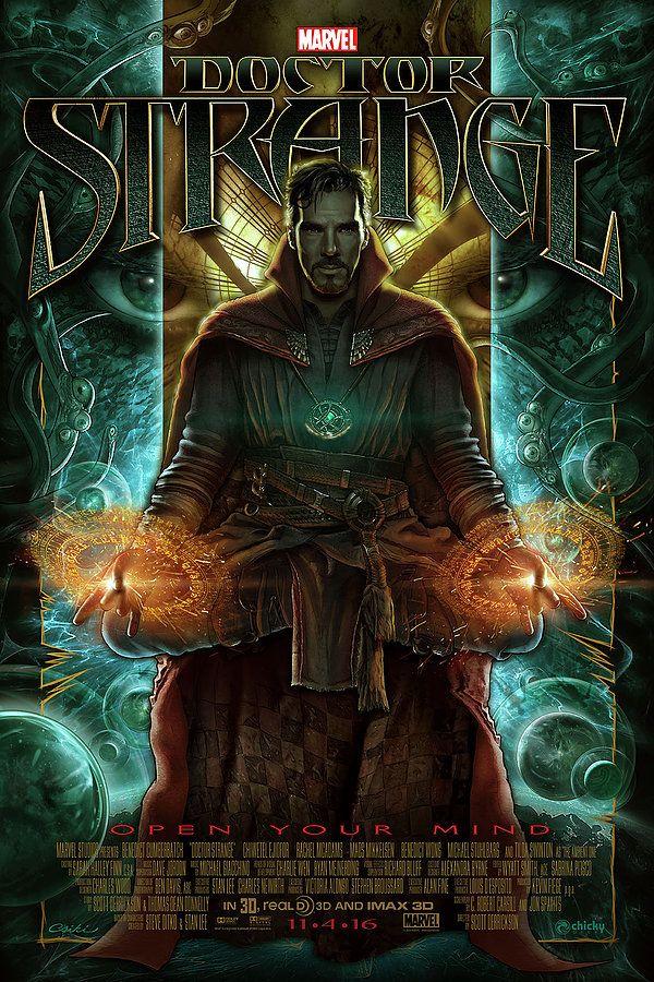 "Fan-Made Poster Art For DOCTOR STRANGE — ""Open Your Mind"