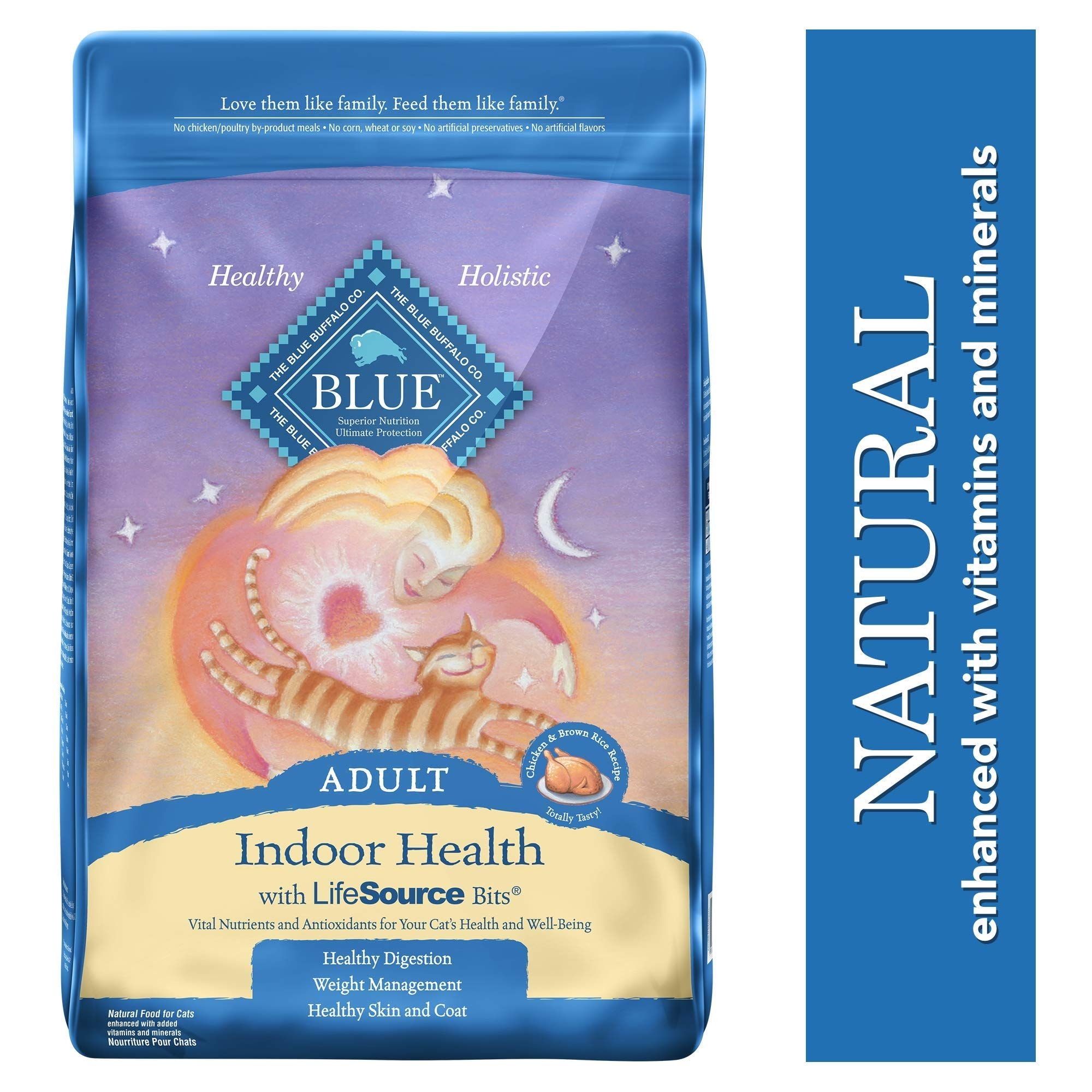 Blue Buffalo Indoor Health Natural Adult Dry Cat Food Dry Cat