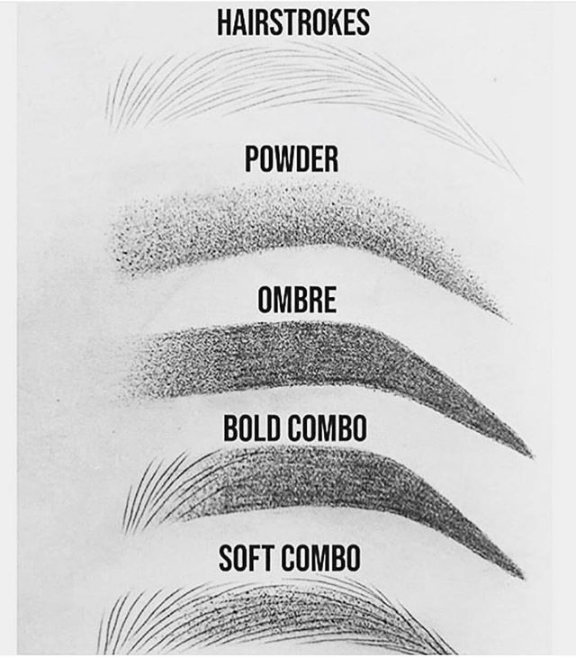 """Photo of Micaela Watts on Instagram: """"The PERFECT description of each eyebrow style. Which one do you prefer?? . . . . . #browgoals #nanobrows #ombre #powderbrows #ombrepowder…"""""""
