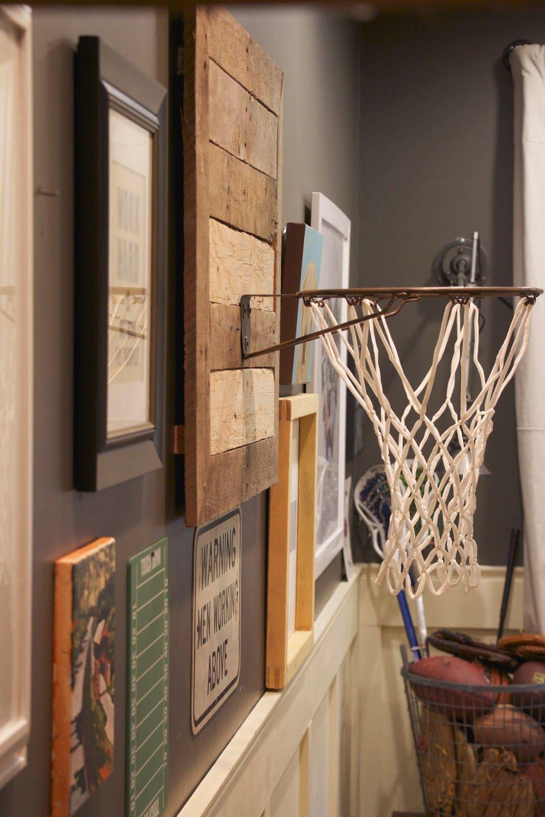 Thrifty Thursday Diy Basketball Hoop Boys Room Diy Diy Basketball Hoop Basketball Room