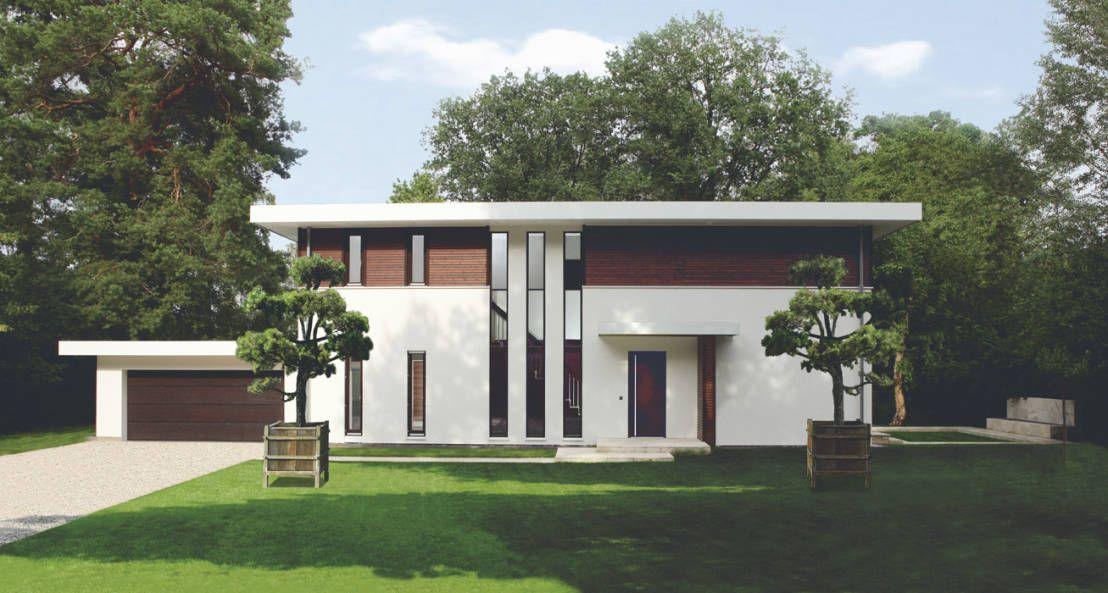 Facade of a modern Bauhaus style house