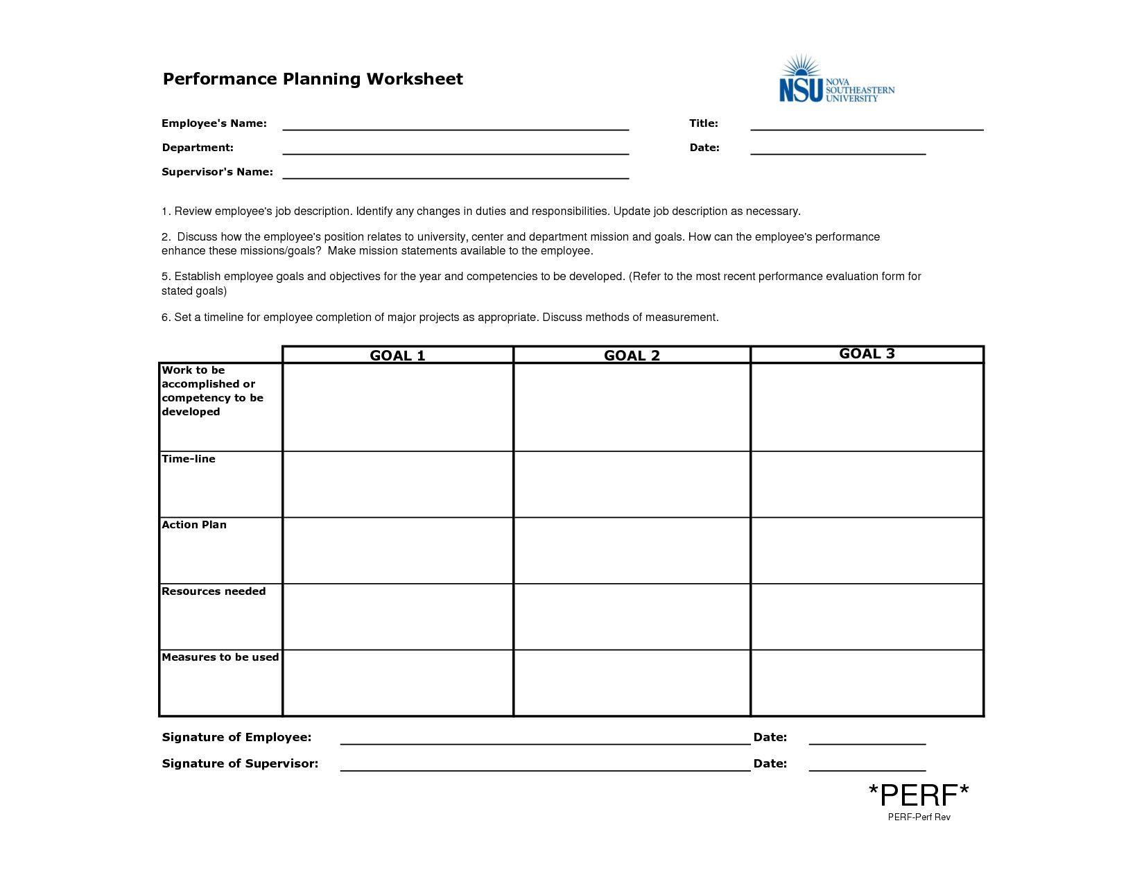 029 Business Template Employee Performancening Worksheet