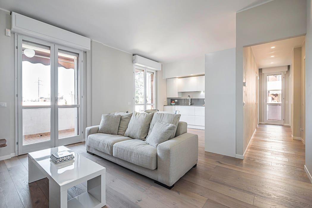 Soggiorno Idee Per Ristrutturare Casa Moderna.Ristrutturazione Appartamento Milano Pioltello Soggiorno Moderno
