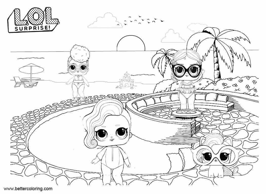 Lol Doll Coloring Page Beautiful Lol Pets Coloring Pages Dolls With Pet Free Printable Free Coloring Pages Valentine Coloring Pages Cute Coloring Pages