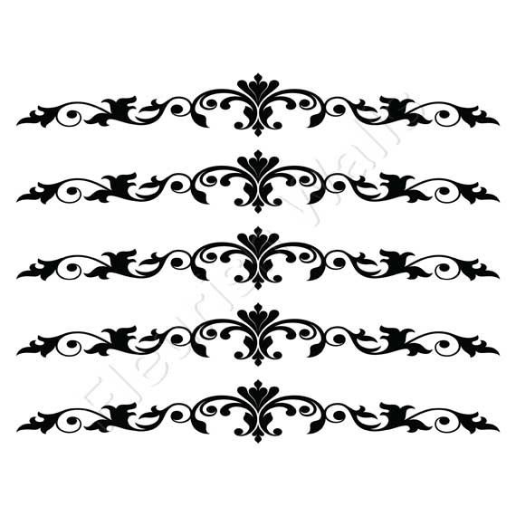 Staircase Decals Damask Decal Scroll for Stair by FleurishWalls