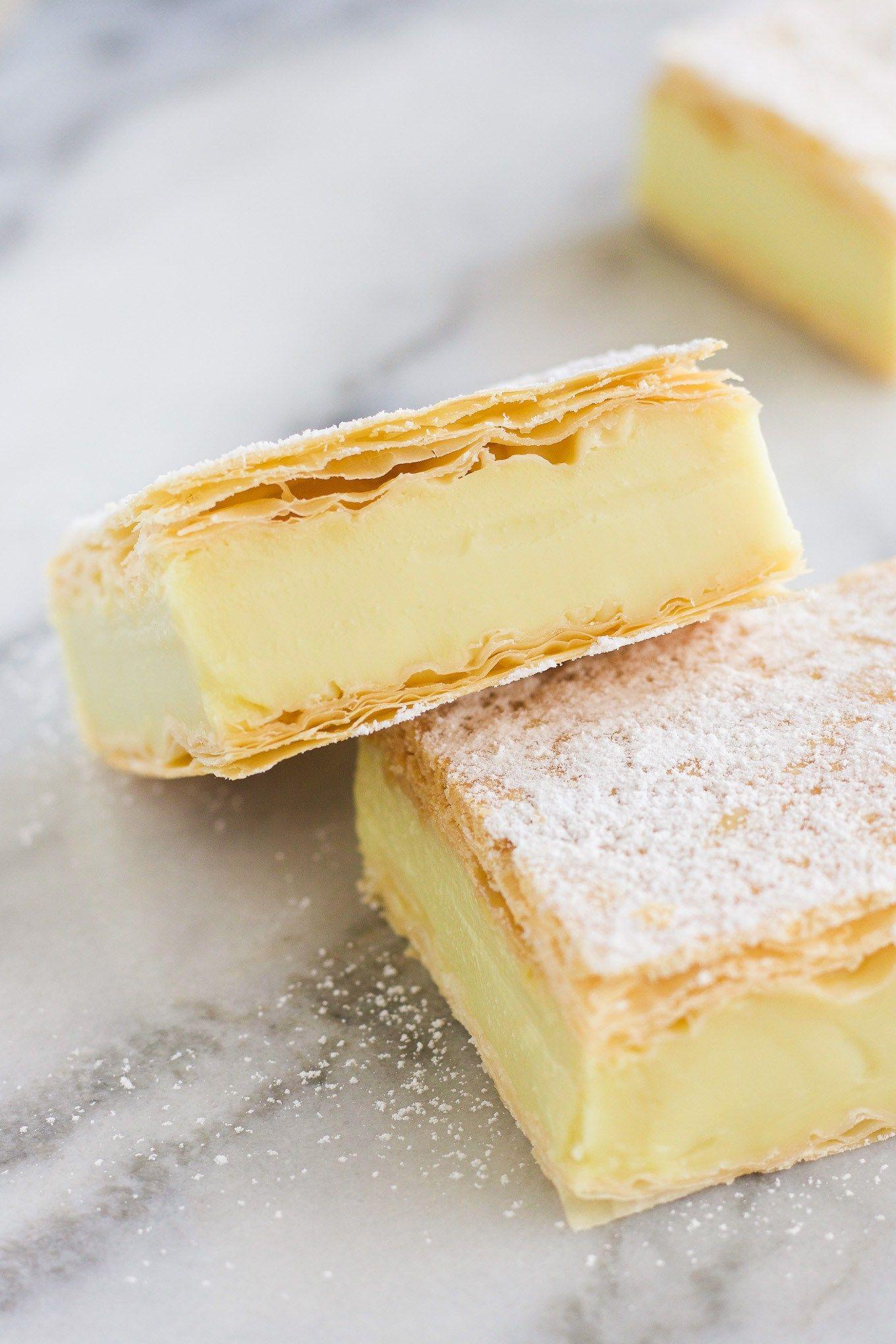 Vegan Vanilla Custard Slice Recipe Vegan Dessert Recipes