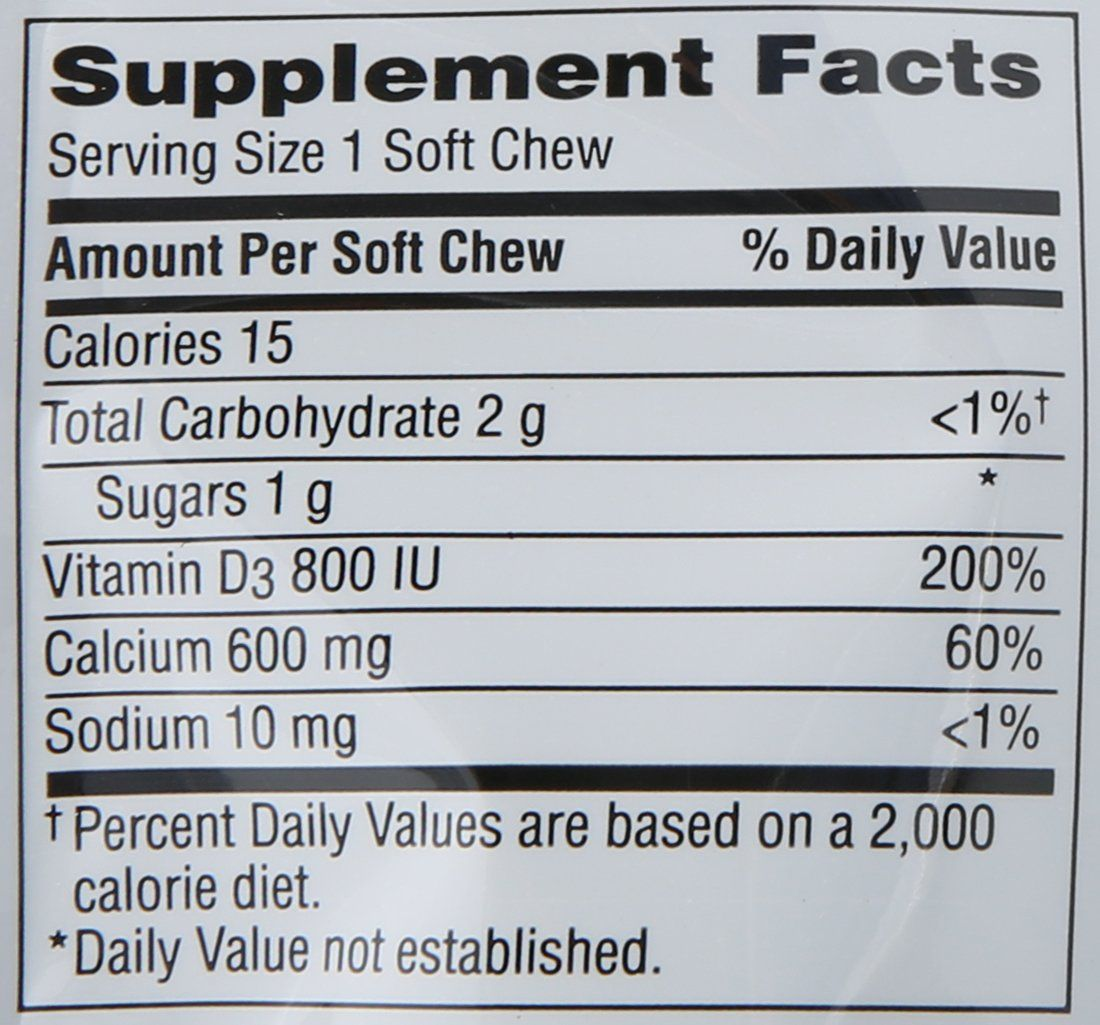 Caltrate 600 d3 soft chews chocolate truffle 60 count