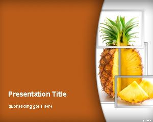 pineapple powerpoint template | free powerpoint templates | ppt, Modern powerpoint