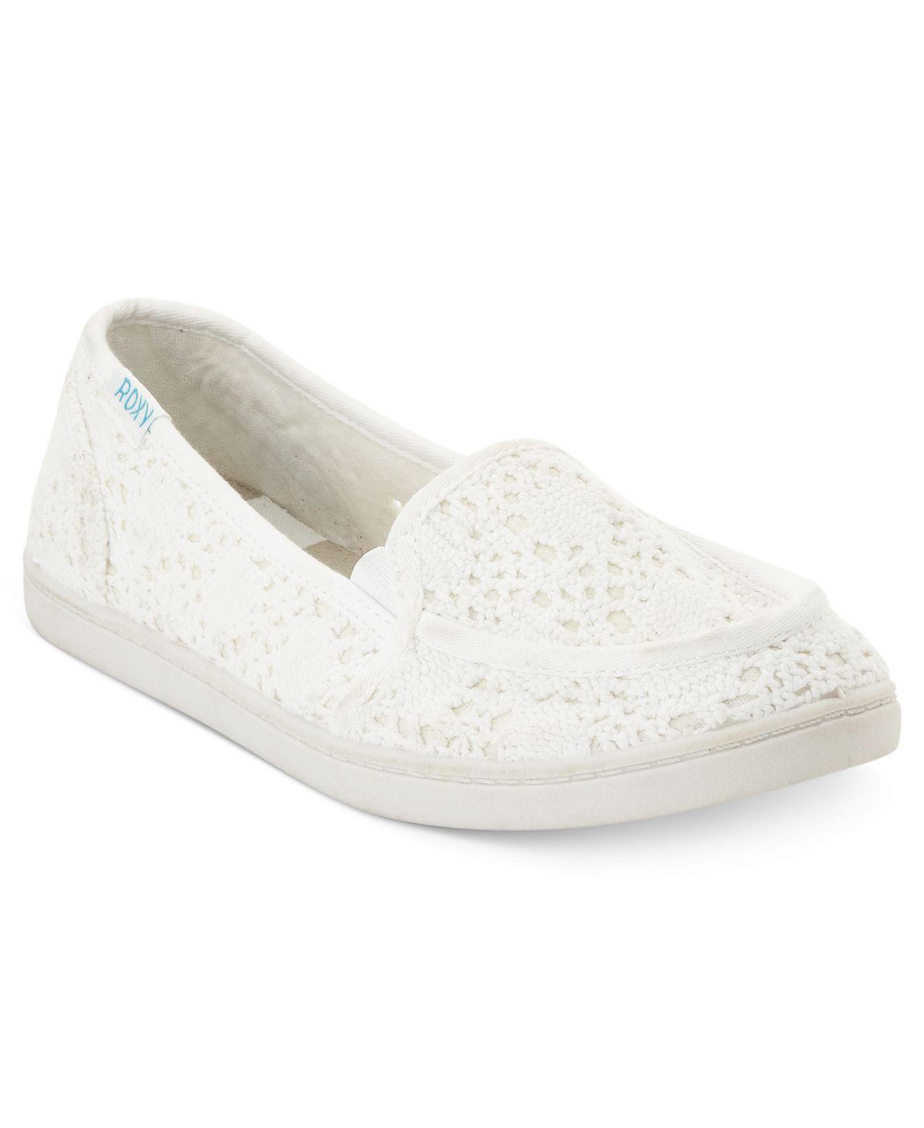 Roxy Lido Crochet Skimmer Flats - Shoes - Macy's