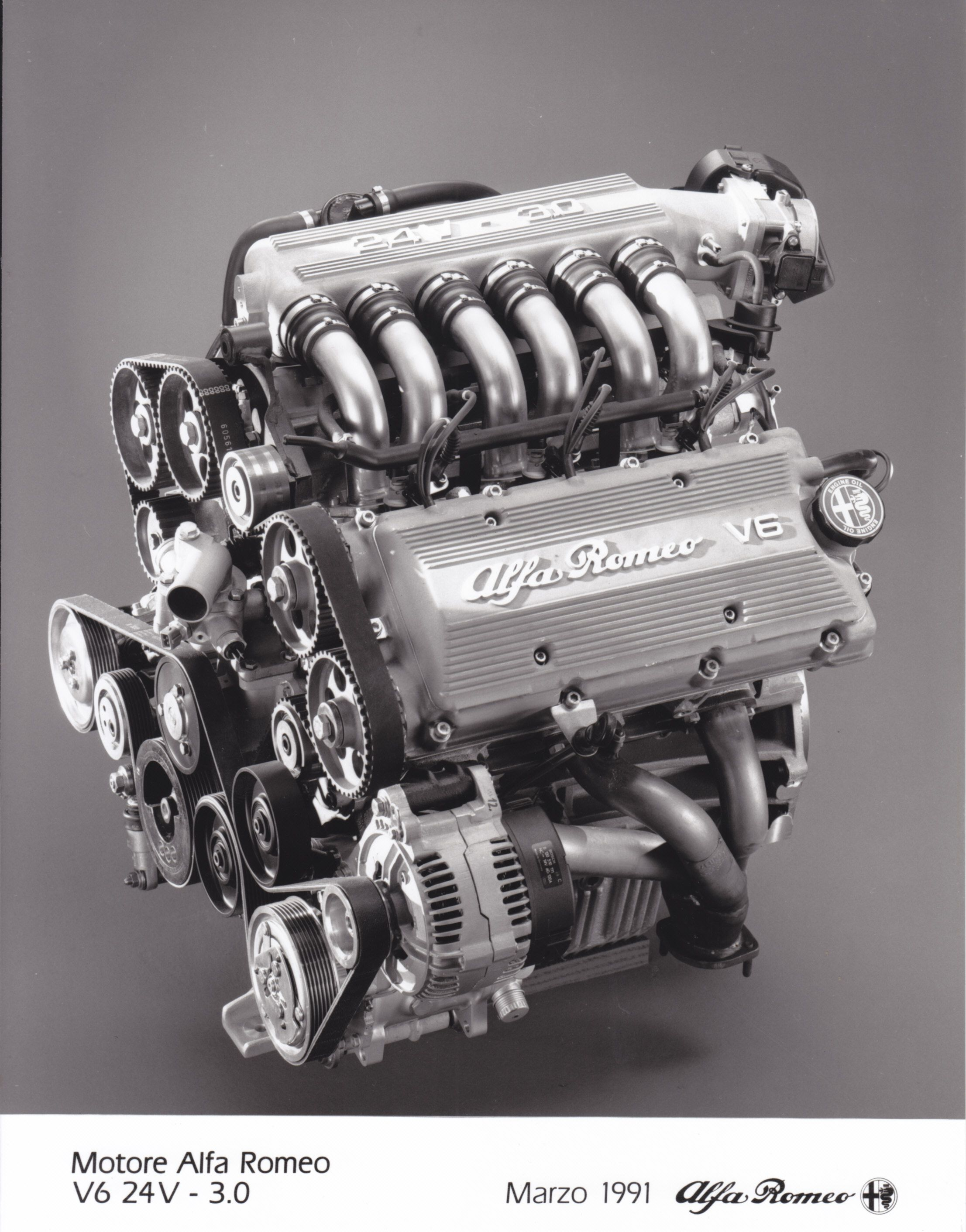 Alfa Romeo V6 24V 3 0 engine factory issued March 1991