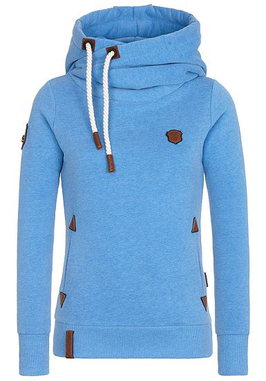 NAKETANO Darth X Hooded Sweatshirt for Women Blue