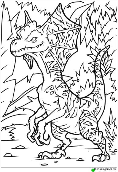 Dilophosaurus Coloring Page Dinosaur Coloring Pages Coloring Pages Cool Coloring Pages