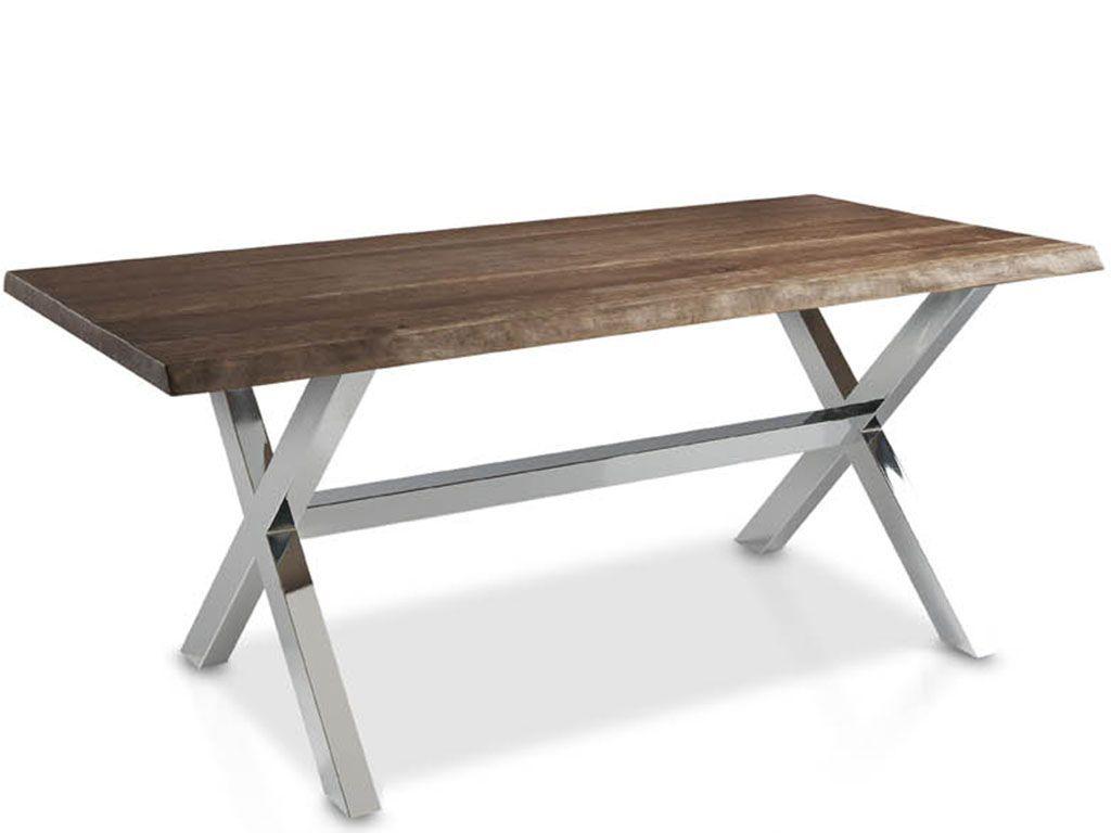 Mesas de comedor con perfil de tronco patas en aspa - Patas para mesas ...