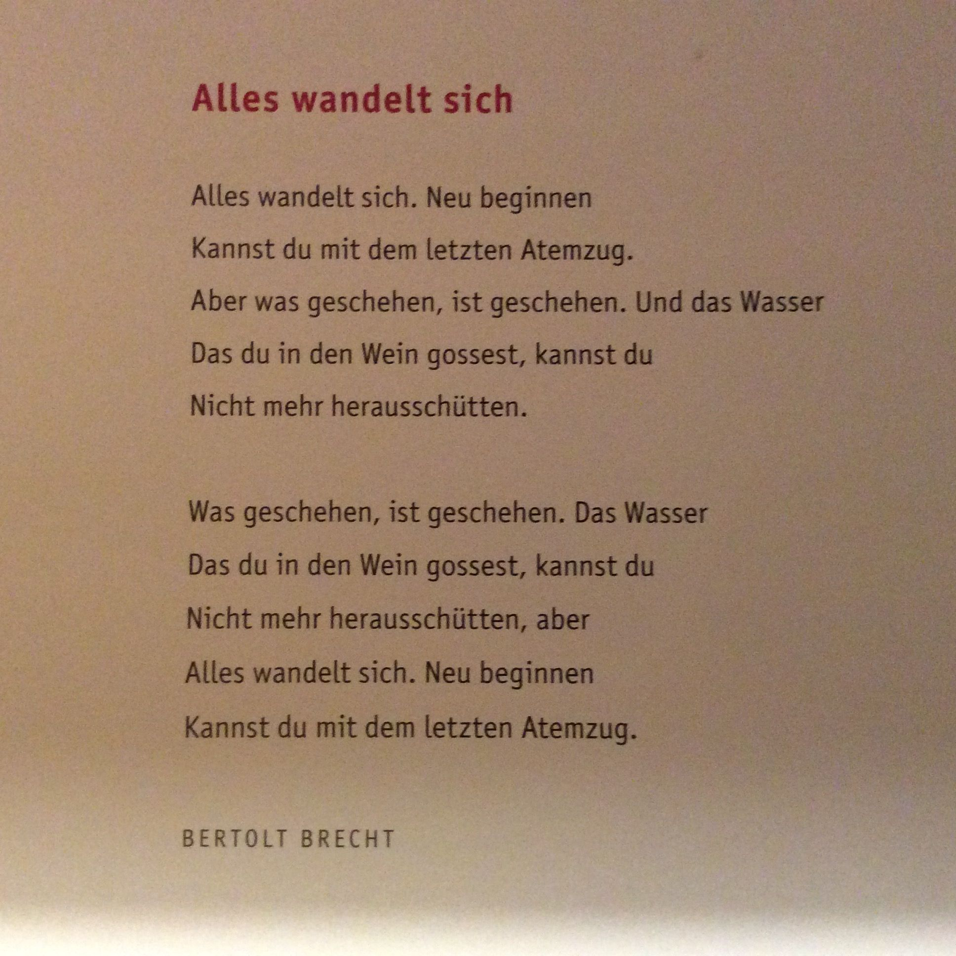 Bertolt Brecht Alles Wandelt Sich Weisheiten Zitate