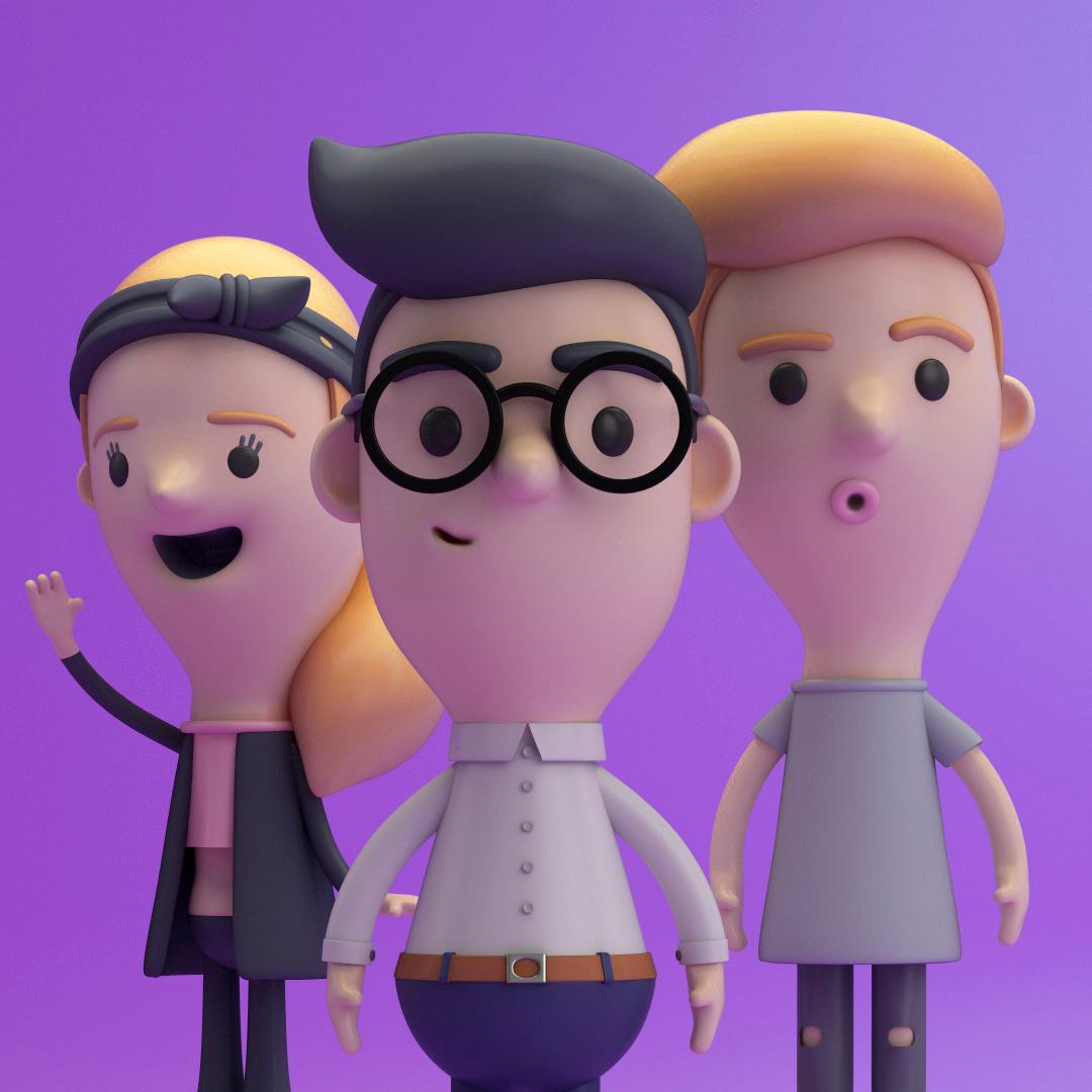 CHARACTERS, 3D model c4d toys design person funny cinema4d