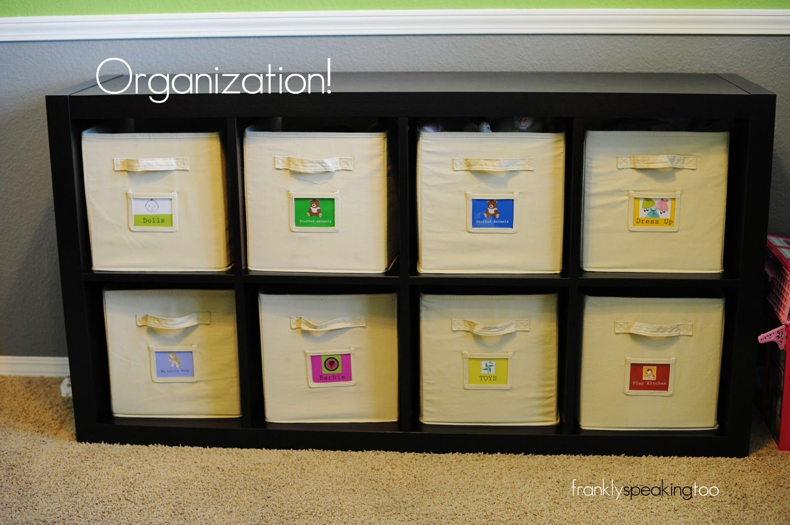 11 Tips For Keeping Kids Toys Organized: Organization: Kids Toy Bin Labels -Costco Has This Storage