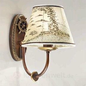 Lampe perfekt für die maritime Dekoration Tau Holz /& Messing