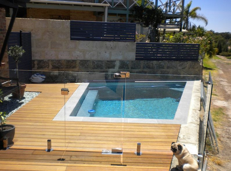 Pool Decking Ideas 10 pool deck and patio designs hgtv Semi Inground Pool Deck Ideas