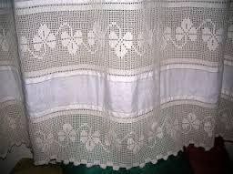 Image result for tende lino e uncinetto per cucina | Crochet ...