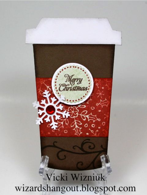 Isn't this the cutest to-go cup? You can purchase the template for this card from Ilina Crouse on her blog HERE . (It al... #coffeecup