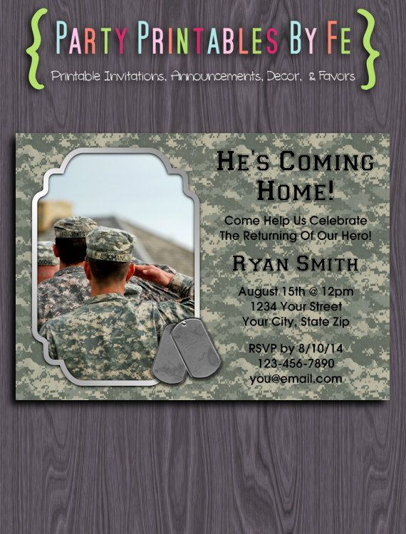 Printable Welcome Home Party Invitation ~ Welcome Home Hero ~ I87 ...