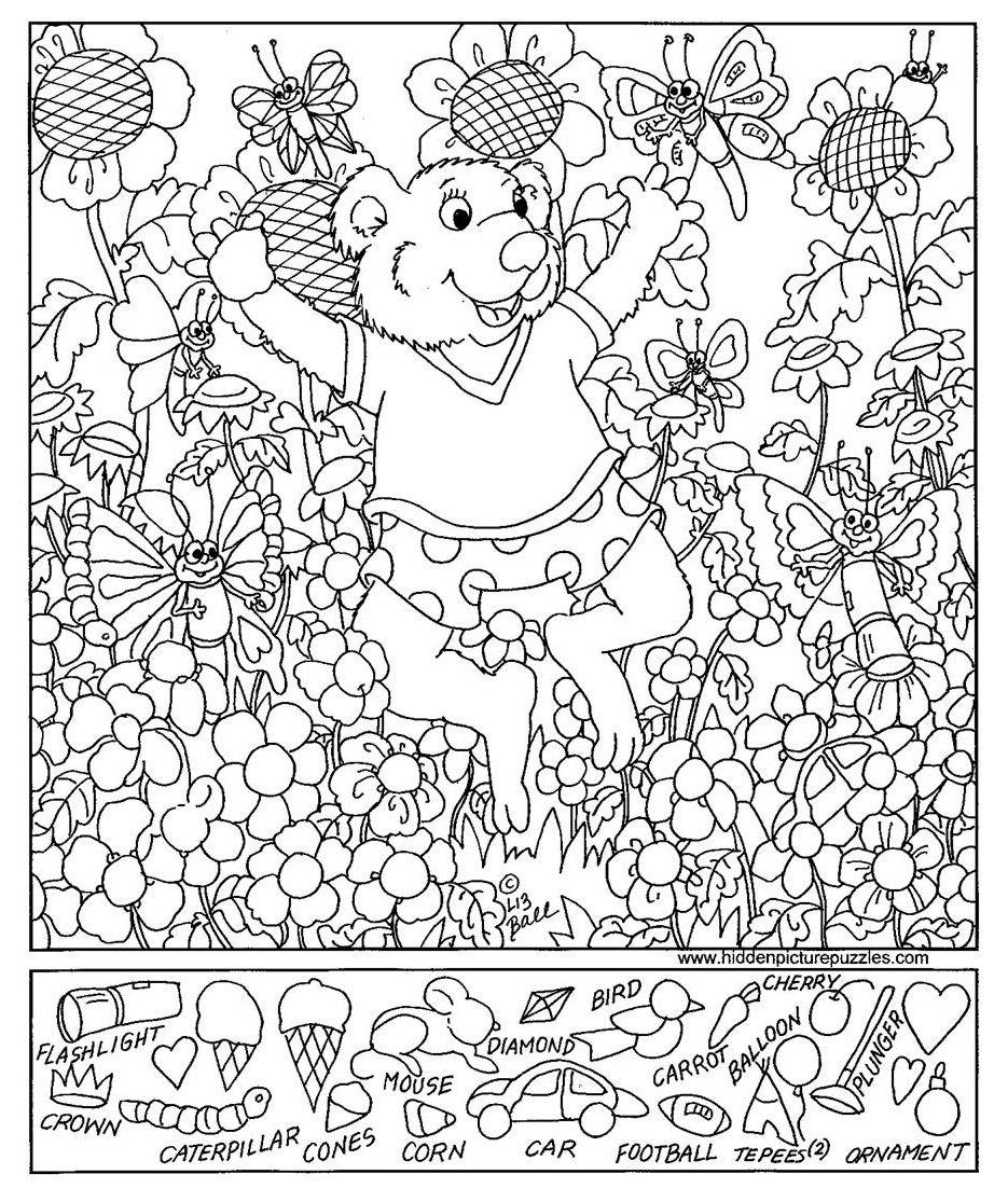 Hidden Pictures Page Hidden Pictures Printables Hidden Pictures Hidden Picture Puzzles