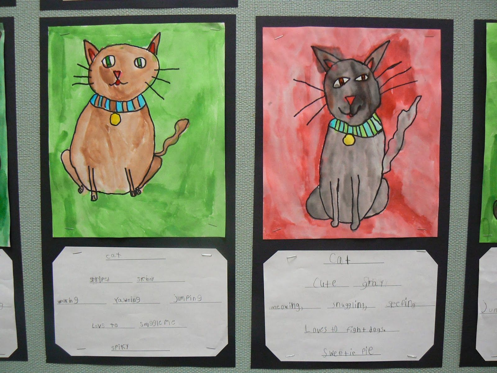 Mrs T S First Grade Class Cat Cinquain Poems