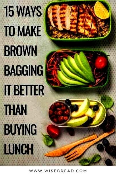 Make Brown Bagging It Better Than Buying Lunch By taking your home packed lunches, you can save mor